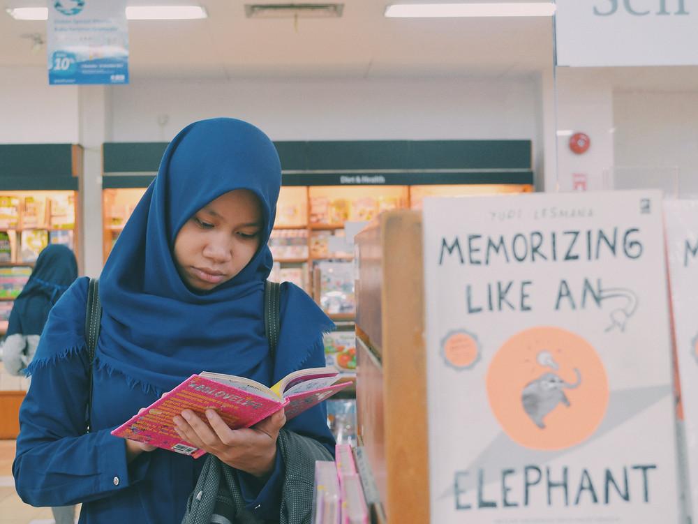 Muslim Woman Reading