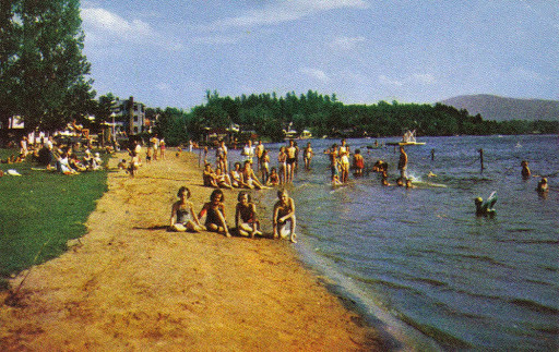 Old Photo Of People On The Beach