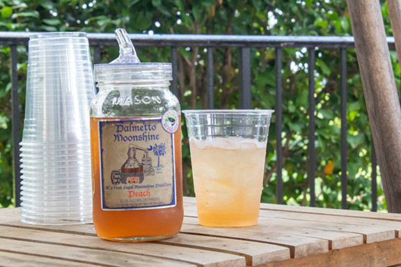 Palmetto Distillery Peach Moonshine