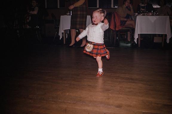 Little Scottish Girl Dancing