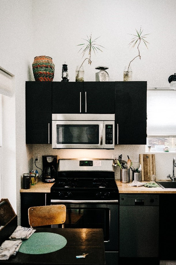 Microwave and Stove