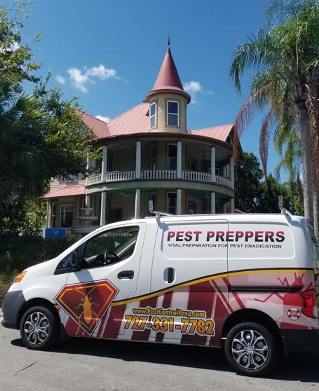 Pest Preppers Commercial Van