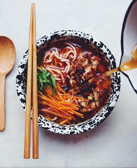 Food with Chopsticks