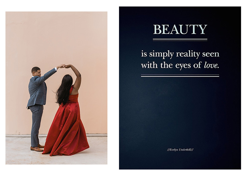 Man and Woman Dancing and Quote