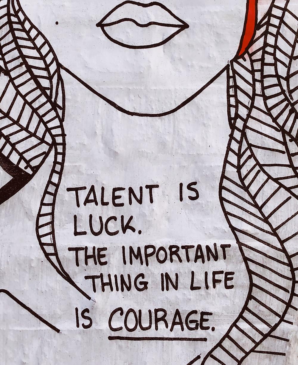 Talent is luck artwork