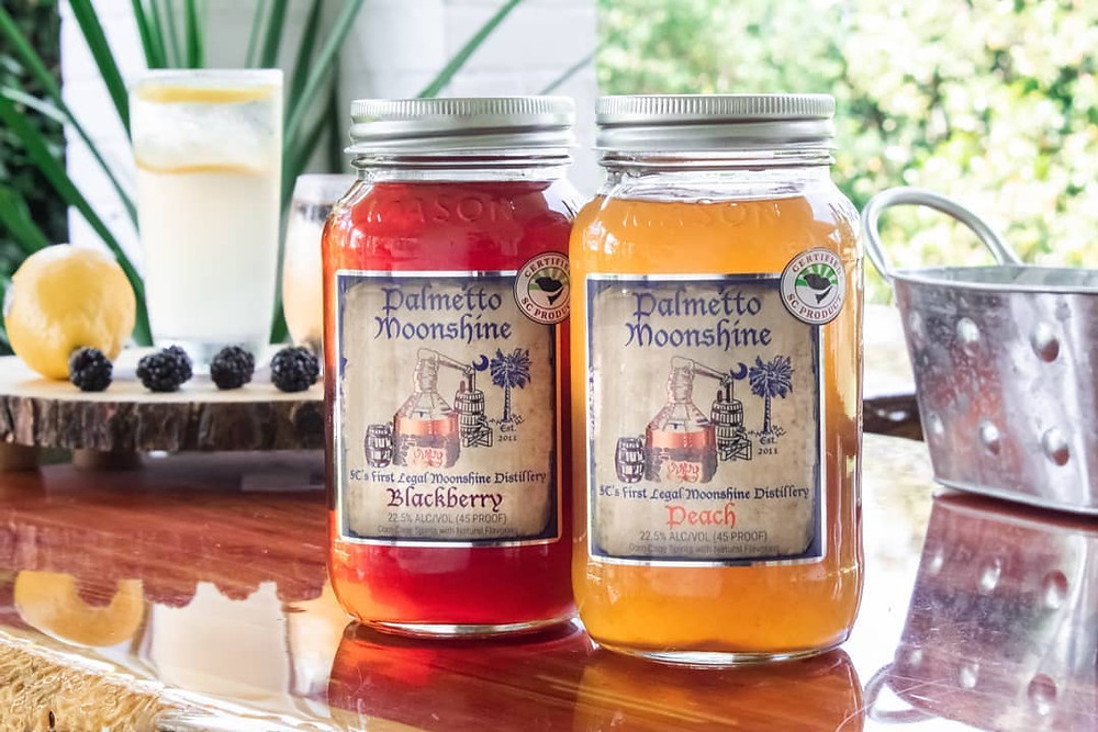 Palmetto Moonshine Sitting On The Counter