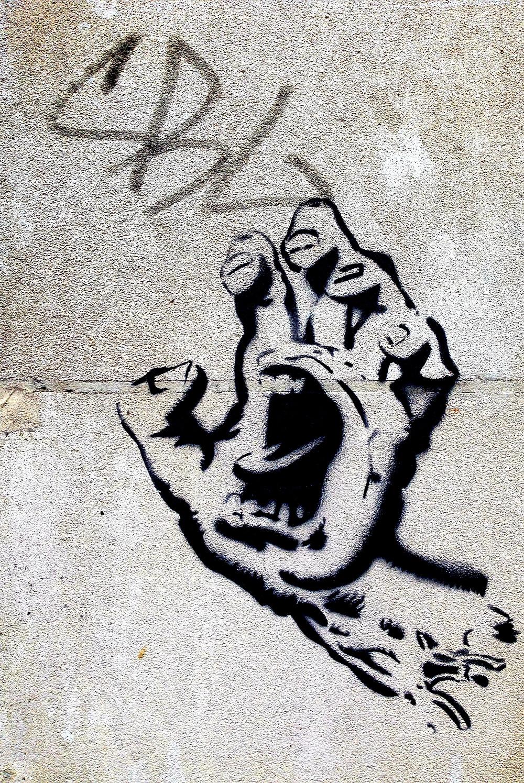 Artwork of finger nails scratching