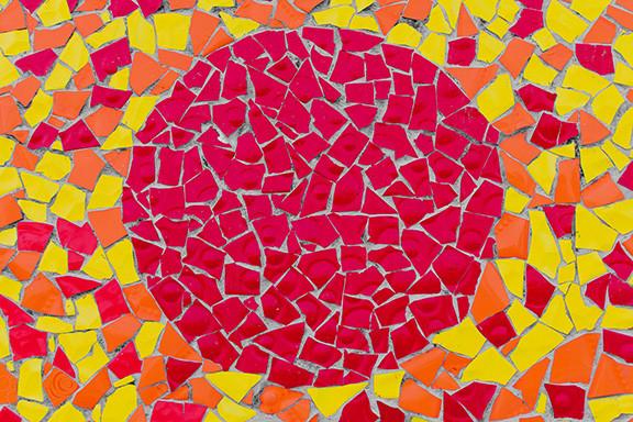 Mosaic Artwork of the Sun