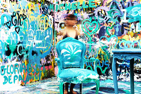 Colorful Art With Graffiti All Over The Walls