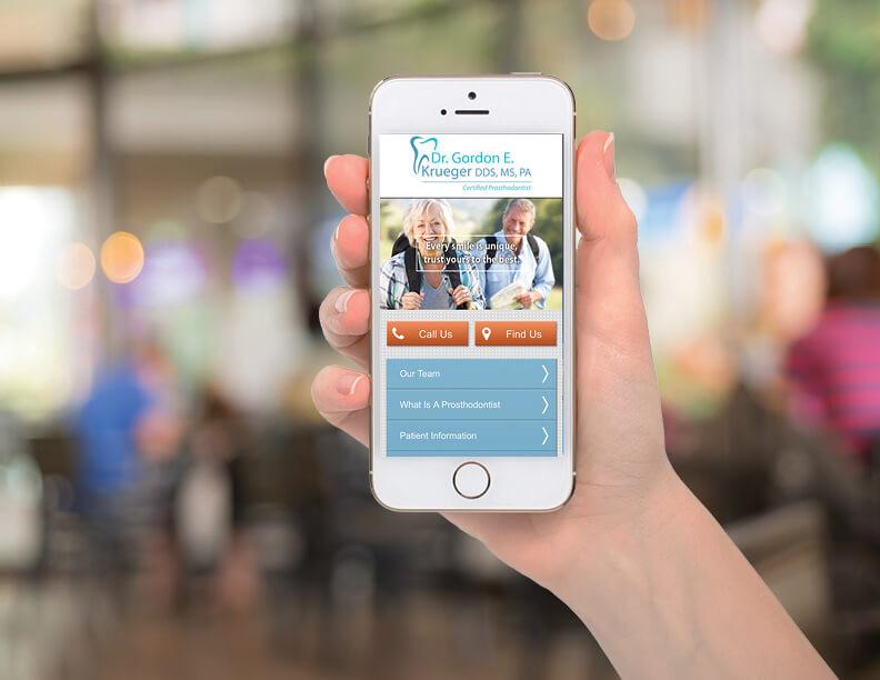 Menu-Driven Mobile Website