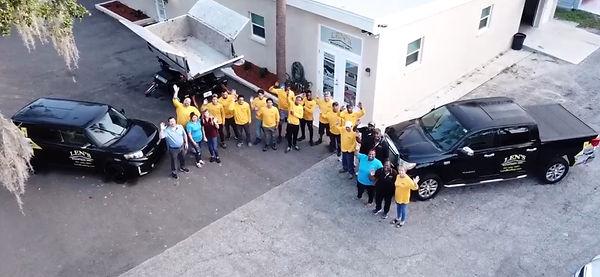 Len's Roofing Team Photo