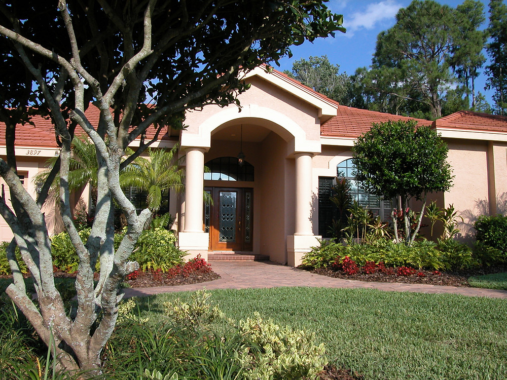 Florida Home With Landscaping