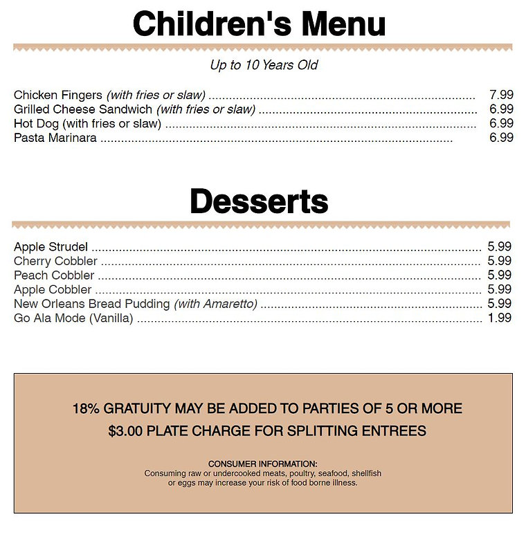 Dinner Menu Childrens Menu.JPG