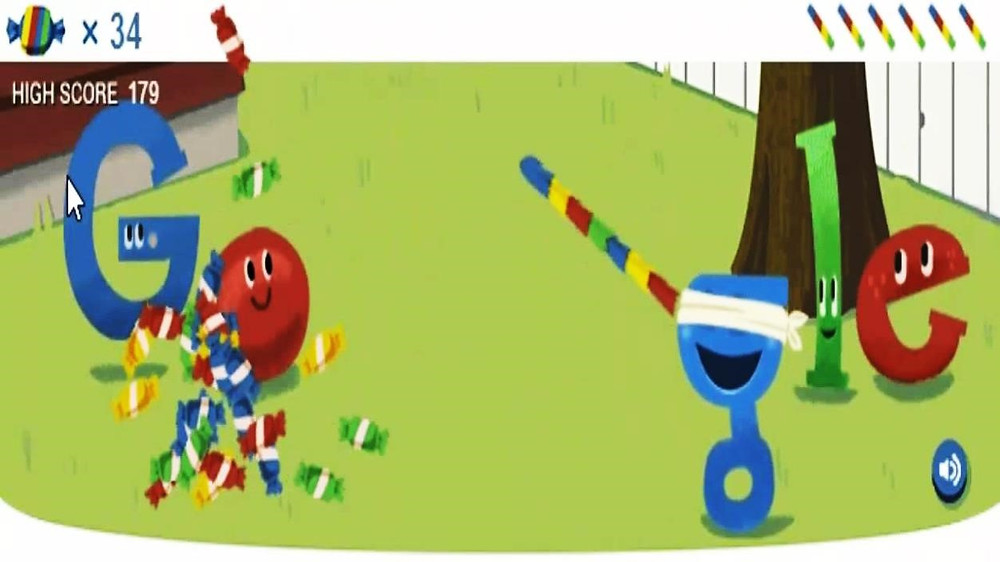 Google Search Bar Pinata Graphic