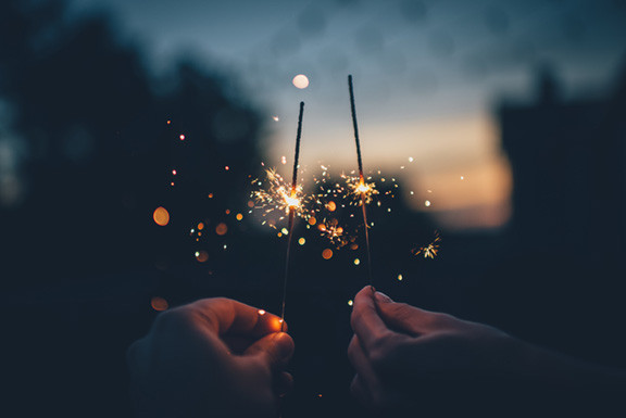 Sparklers for New Years Eve
