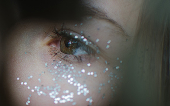 Woman's Eye With Sparkles