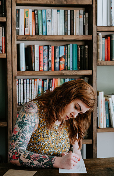 Tattoo  Woman Writing