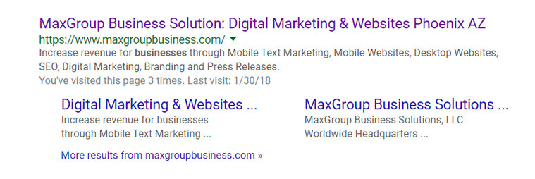 MaxGroup meta description tag