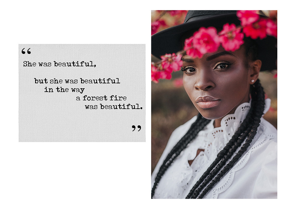Beautiful Black Woman with Quote