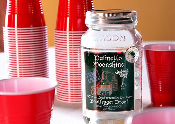 Jar of Palmetto Moonshine