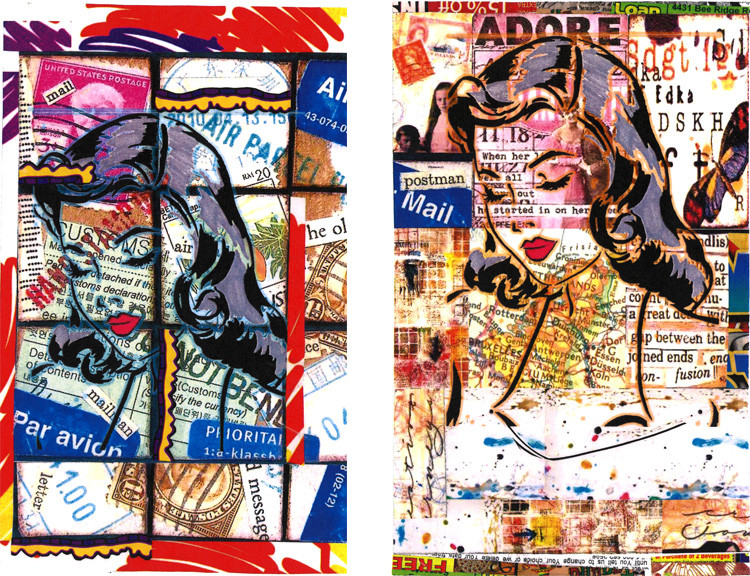 Collages of women