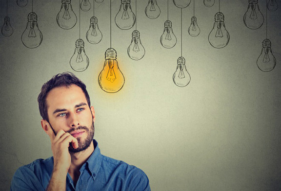 Man Thinking of Business Ideas