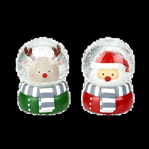 Santa or Reindeer, Snow globe