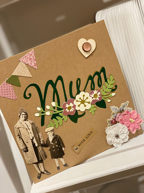 Large 3d mothers day card
