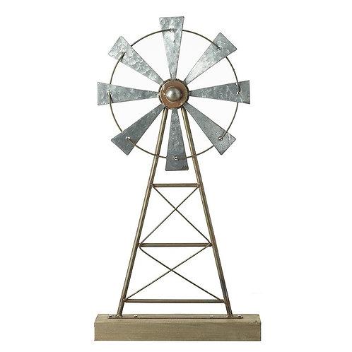 Metal windmill ornament
