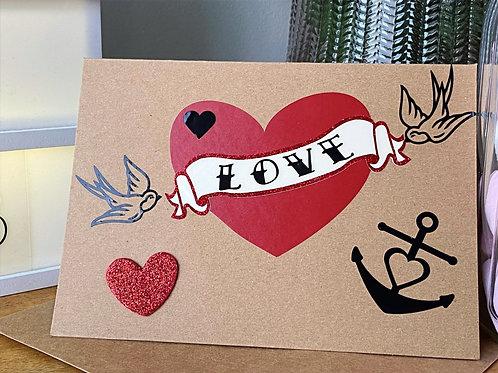 Tattoo Love Valentines Card