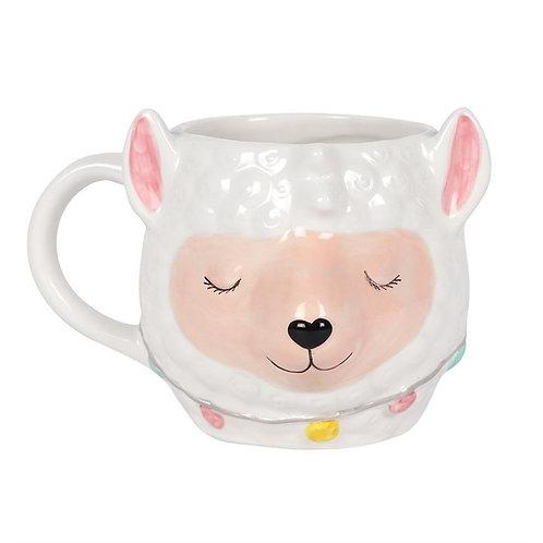 3d llama mug