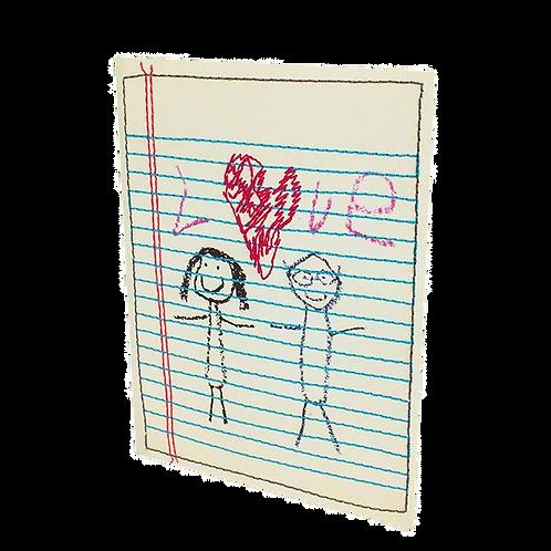 Fabric 'Love' card
