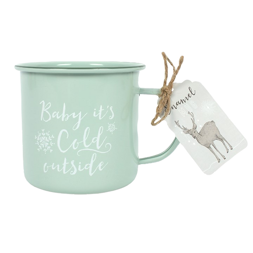 Enamel winter mug
