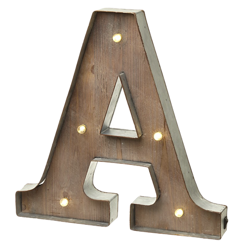 A-Z LED letters