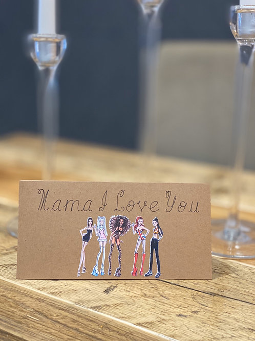Spice girls Mother's Day card
