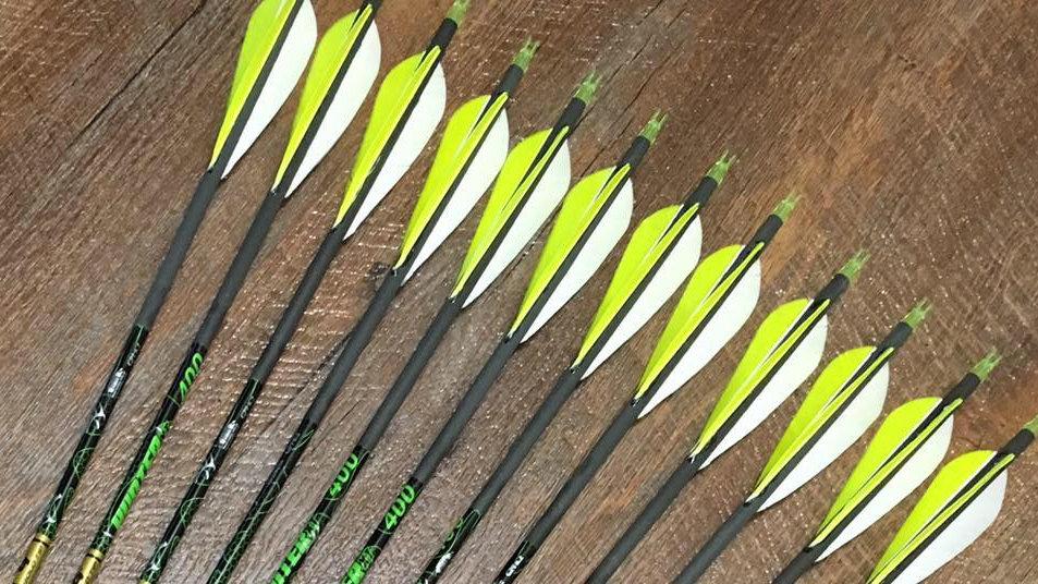 1/2 Dozen Gold Tip XT Hunter Feathers