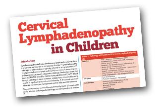 Cervical Lymphadenopathy in Children