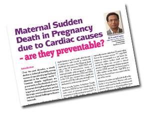 Maternal Sudden Death in Pregnancy due to Cardiac Causes – Are they preventable?