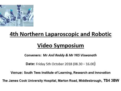 4th Northern Laparoscopic and Robotic Video Symposium