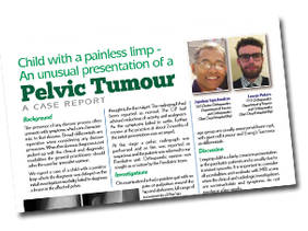 Child with a painless limp – An unusual presentation of a pelvic tumour