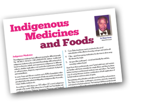 Indigenous Medicines and Foods
