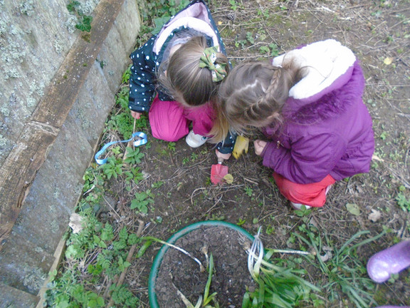 Investigating and exploring together.