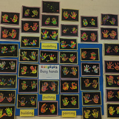 Look at our handprints. They are all different!