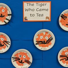 We made tiger food for when Tiger Came to Tea.