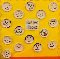 Colourful button faces