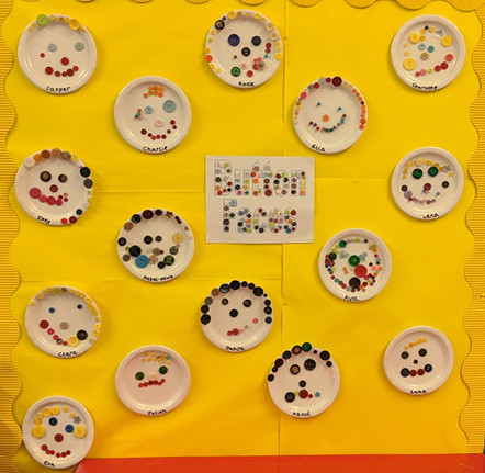Colourful button faces