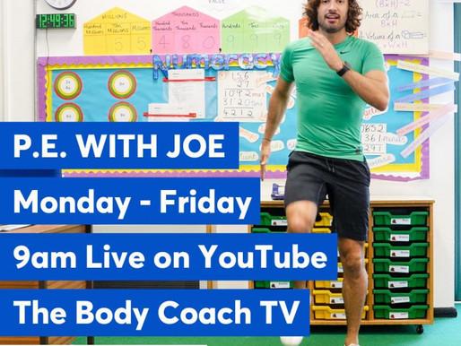 Exercising with Joe Wickes