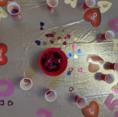 Counting, sorting and matching hearts