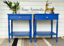 Vibrant Royal Blue Bedside Tables