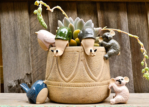 Handmade Ceramic Pot Planter Pals Ceramic Pot Hanging Animals